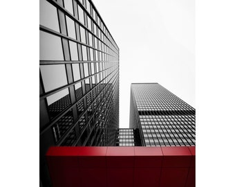 Chicago Skyscraper Print, Photography, Building, Black and White, Architecture, Fine Art Photography, 5x7, 8x10, 11x14