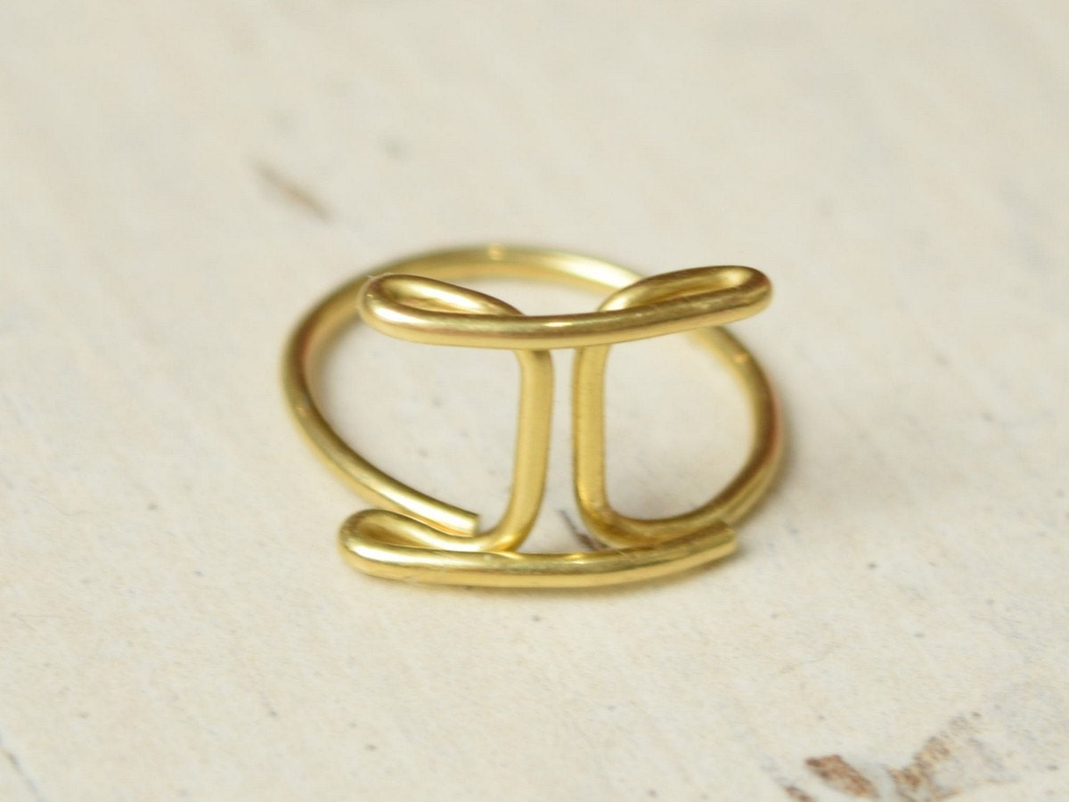 tory link ring rings gemini burch save in jewelry s metallic gold lyst women