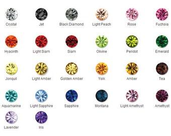 26 Colors Ss24 - Chaton Sew On Crystal Rhinestone Prong Setting 4 Hole Slider - 5.3mm 20 Pcs