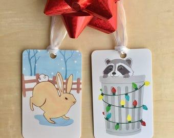 Etiquettes cadeaux de vacances