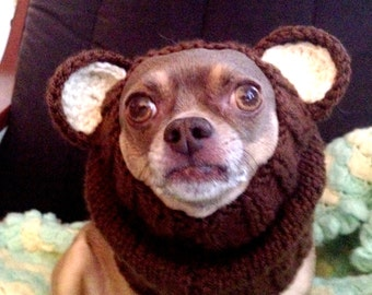 Bear Dog Snood Pattern