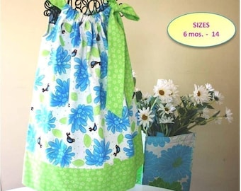 Sew Easy Pillowcase Dress Pattern - Size 6 mos baby -14 child - PDF Sewing Pattern by FootLooseFancyFree on Etsy