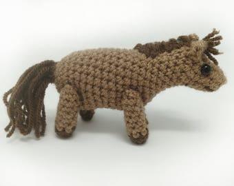 Miniature pony crochet pony, small horse tutorial, amigurumi