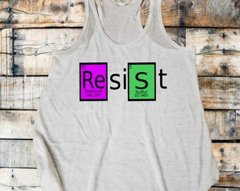 March for science, tank, ResiSt, science march, periodic table, elements, climate change, save our planet, alternative facts