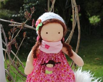 Waldorf doll, 13 inch /33cm/  doll, steiner doll, organic doll, fabric doll, cloth doll, handmade