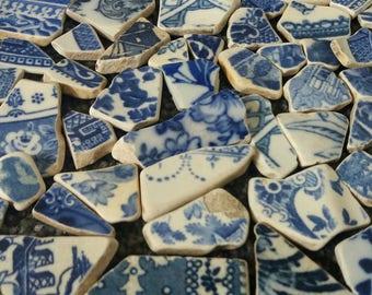 EXAMPLE - 1.4KG Bulk Bundle of Vintage Sea Worn/Beach Found Pottery/Ceramic Shards for Mosaics/Crafting Genuine Scottish Beach Finds