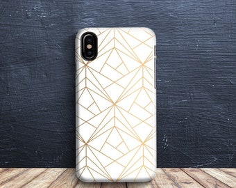 iPhone 8 Case Geometric Gold Angles Phone case iPhone x Case 6 iPhone 7 PLUS Case iPhone 10 Case iPhone 7 Case iPhone 7 plus Case