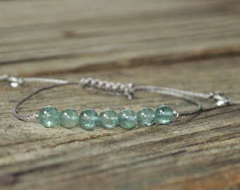 Apatite Yoga Bracelet, Throat Chakra, Meditation Bracelet, Gemstone Therapy, Minimalist, Stack, Spiritual