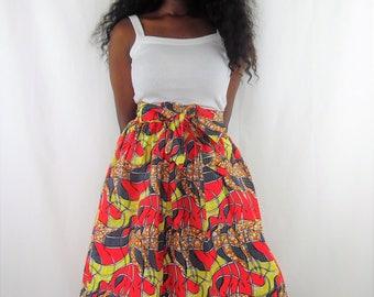 Waist gathered skirt
