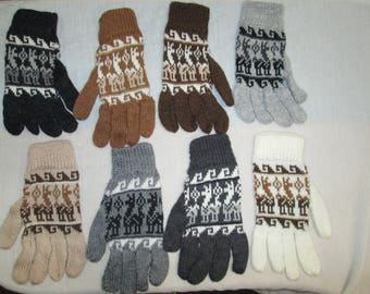 wholesale lot 10 pairs Peruvian alpaca gloves
