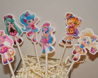 Shoppies Cupcake Toppers set of 12