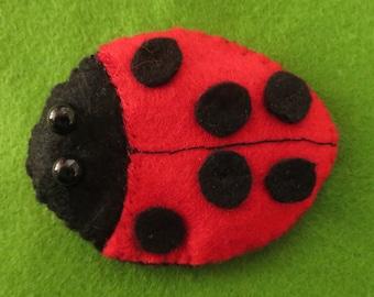 LADYBIRD  felt Fridge MAGNET refridgerator Ladybug