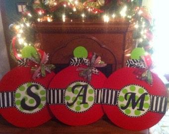 Personalized Christmas Door Hanger