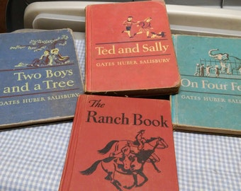 Early School Readers, set of 4 books, Huber-Salisbury-Gates MacMillin