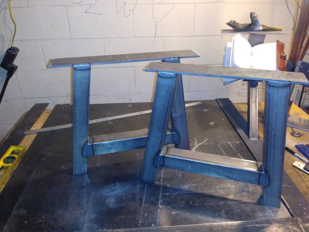 Steel Coffee Table Legs (set Of 2). Simple And Sleek Industrial Coffee  Table Legs. Metal Legs For Coffee Or Side Table.