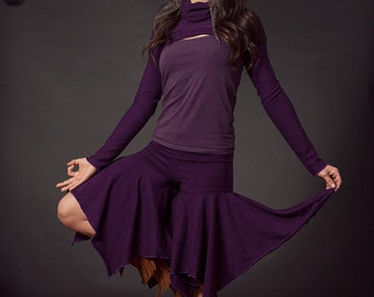 Turtle Neck Shrug, Bolero, Sleeves, Crop Top, Larp, Yoga wear, Festival Clothing, Hoop Clothes, Hemp Clothing, Cosplay