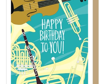 MUSICAL INSTRUMENTS - Birthday Card