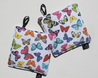 Pot holders with butterflies/POTHOLDER with Butterfly