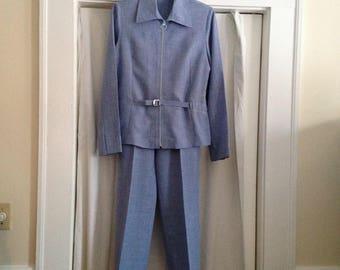 Pant Suit - Lightweight - Pale Blue Denim