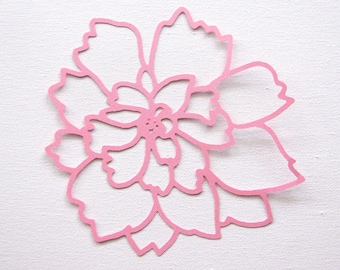 Flower die cut  set of 2 in any colour