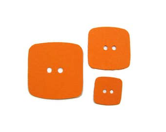 Square Paper Button  Die Cuts set of 30