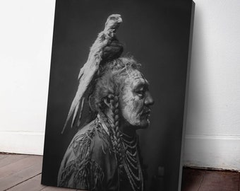 Native American Indian Canvas Print, Two Whistles ca. 1908, Indigenous Americans, American Indian, indigenous people, NA20C