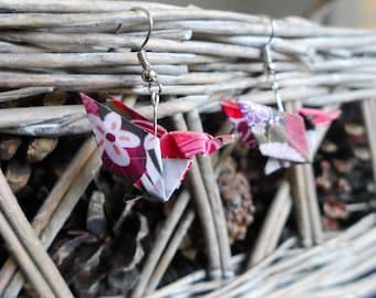 Origami bird Hummingbird earrings