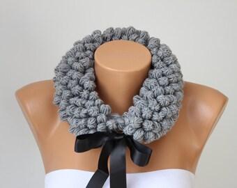 Neckwarmer Crochet scarf, crochet scarf, woman scarf gift  -COLOR OPTION AVIABLE