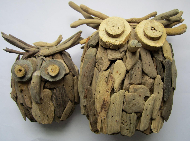 Driftwood Owl-Handmade Wooden Owl-Driftwood Home Decor-Owl