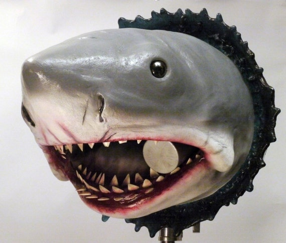 Large Bruce The Shark Jaws Wall Hanging Bust Prop