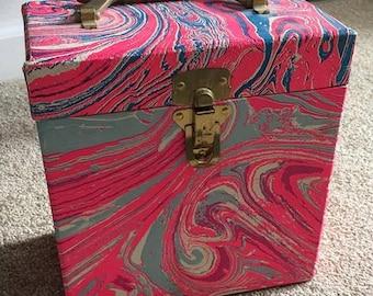 Vintage 45 Record case carrier handmade