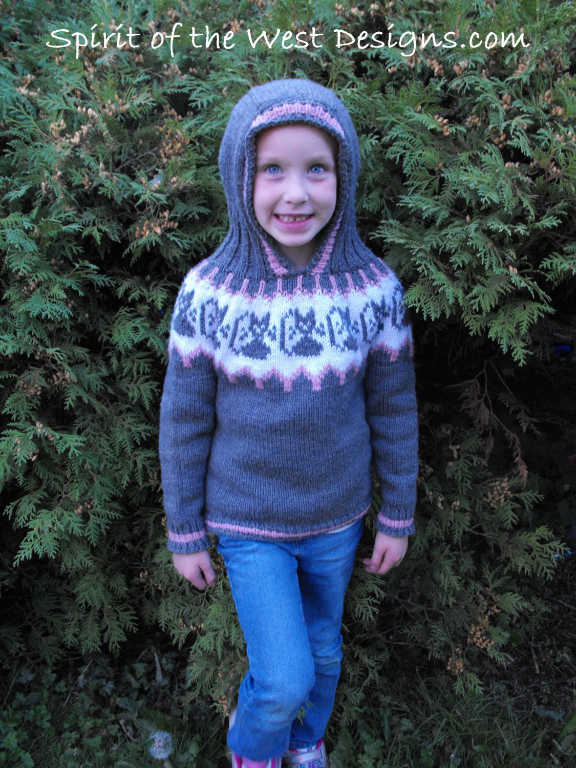Knitting Pattern Hoodie Top Down Hooded Sweater Cat Kitten Kitty ...