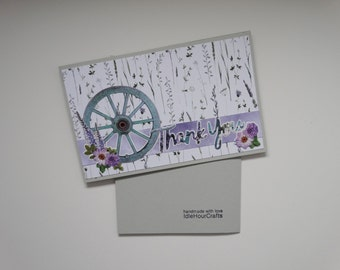 Lavender Thank You Card, A6 Size