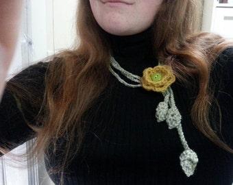 Flower Necklace - Handmade Crochet Necklace