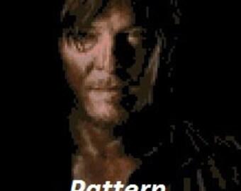 Daryl Dixon #1. Cross Stitch Kit.