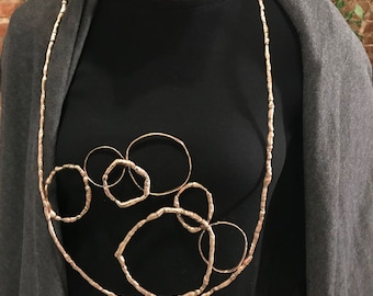 Large Bronze Statement Necklace
