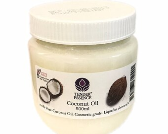 Virgin Coconut Oil 100% Pure in 500ml Tub Unrefined Raw Butter