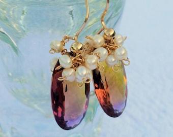 Ametrine Earrings