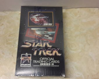 star trek 25th anniversary series 2 sealed box trading cards 1991