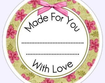 Custom Kitchen or Canning Labels, Made For You Stickers, Personalized Labels, From The Kitchen Stickers