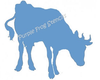 Cow STENCIL (Reusable  Different Sizes Reg and Commercial Grade Thickness Animal
