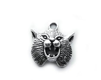 5 Silver Werewolf Charms