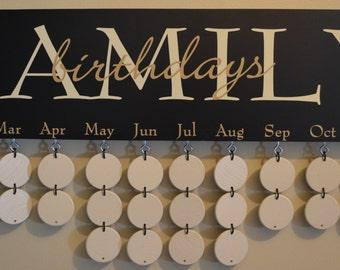 Birthday Board - Artisan hand crafted - Black Boards