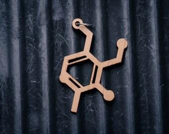 Vitamin B6 (Pyridoxine) Molecule Necklace pendant