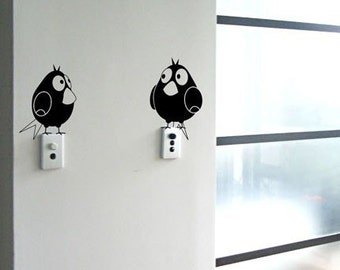 Two Fatty Birds - Wall Decal