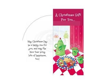Christmas Cookies Printable Money Card Envelope PDF Templates