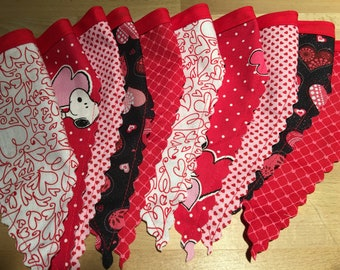 Valentine's Day Banner Garland Handmade 6ft and 7ft