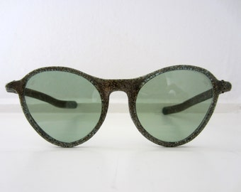 40s/50s Willson Green Glittering Cat Eye Sunglasses // Vintage Cat Eyes Sunglasses