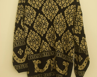 Black and Sparkly Gold Vintage Sweater