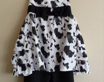 cow print pant suit